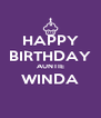 HAPPY BIRTHDAY AUNTIE WINDA  - Personalised Poster A4 size