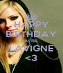 HAPPY BIRTHDAY AVRIL LAVIGNE <3 - Personalised Poster A4 size