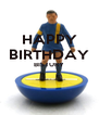 HAPPY BIRTHDAY BISTURY   - Personalised Poster A4 size