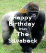 Happy  Birthday  Brian The Silvaback - Personalised Poster A4 size