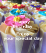 Happy Birthday Chrissi Enjoy your special day - Personalised Poster A4 size