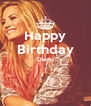Happy Birthday Demi   - Personalised Poster A4 size