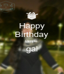 Happy Birthday Dimple gal  - Personalised Poster A4 size