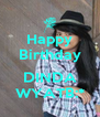 Happy Birthday  DINDA WYATB:* - Personalised Poster A4 size