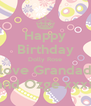 Happy Birthday Dolly Rose love Grandad and Ozge xxxx - Personalised Poster A4 size