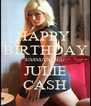 HAPPY  BIRTHDAY EMMANUEL JULIE CASH - Personalised Poster A4 size