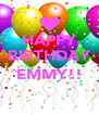 HAPPY BIRTHDAY  EMMY!!  - Personalised Poster A4 size