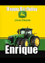 Happy Birthday  Enrique  - Personalised Poster A4 size