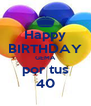 Happy BIRTHDAY GEMA por tus 40 - Personalised Poster A4 size