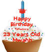 Happy Birthday  Ghadora  23 Years Old  Mwahh - Personalised Poster A4 size