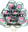 HAPPY BIRTHDAY Hanny Bear Mwahh - Personalised Poster A4 size