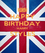 HAPPY BIRTHDAY HARRY STYLES  - Personalised Poster A4 size