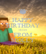 HAPPY BIRTHDAY HUGH FROM MOLLY - Personalised Poster A4 size