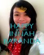 HAPPY BIRTHDAY INNAH BARANDA - Personalised Poster A4 size