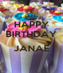 HAPPY BIRTHDAY  JANAE  - Personalised Poster A4 size