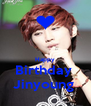 Happy Birthday  Jinyoung  - Personalised Poster A4 size