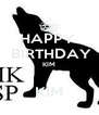 HAPPY   BIRTHDAY KIM  KIM - Personalised Poster A4 size