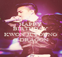 HAPPY BIRTHDAY LEADER KWON JI YOUNG G-DRAGON - Personalised Poster A4 size