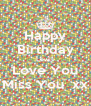 Happy Birthday Lewis Love You Miss You  xx - Personalised Poster A4 size