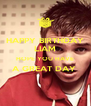 HAPPY BIRTHDAY LIAM HOPE YOU HAVE A GREAT DAY   - Personalised Poster A4 size