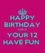 HAPPY BIRTHDAY LUCY  YOUR 12  HAVE FUN  - Personalised Poster A4 size