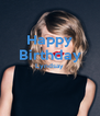 Happy Birthday Lyndsay   - Personalised Poster A4 size