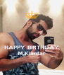 HAPPY BIRTHDAY M.Kianfar - Personalised Poster A4 size