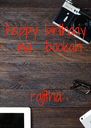 happy birthday  ma  bookah   rajitha - Personalised Poster A4 size