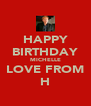 HAPPY BIRTHDAY MICHELLE LOVE FROM H - Personalised Poster A4 size