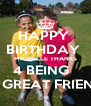 HAPPY  BIRTHDAY  MICHELLE THANKS 4 BEING   A GREAT FRIEND - Personalised Poster A4 size