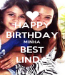 HAPPY BIRTHDAY MINHA BEST LINDA - Personalised Poster A4 size