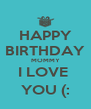 HAPPY BIRTHDAY MOMMY I LOVE  YOU (: - Personalised Poster A4 size