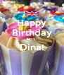 Happy  Birthday  Mrs. Dina!  - Personalised Poster A4 size