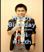 Happy Birthday My Mesyeem Ajil #12th - Personalised Poster A4 size