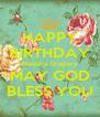HAPPY BIRTHDAY Natasha Gragory MAY GOD BLESS YOU - Personalised Poster A4 size