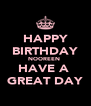 HAPPY BIRTHDAY NOOREEN  HAVE A  GREAT DAY - Personalised Poster A4 size