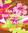 HAPPY BIRTHDAY  Princess LEYAH!!!  - Personalised Poster A4 size