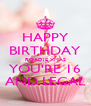 HAPPY BIRTHDAY ROADIE XMAS YOU'RE 16 AND LEGAL - Personalised Poster A4 size