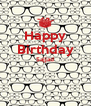 Happy Birthday Sajjad   - Personalised Poster A4 size