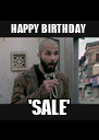 HAPPY BIRTHDAY  'SALE' - Personalised Poster A4 size