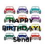 HAPPY  BIRTHDAY!    Sendi - Personalised Poster A4 size