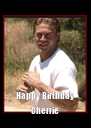 Happy Birthday Sherrie - Personalised Poster A4 size