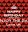 HAPPY BIRTHDAY SUMIT BHAI ENJOY THE DAY Love uh  - Personalised Poster A4 size