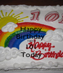 Happy Birthday  Tanty  101 Today - Personalised Poster A4 size