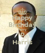 Happy Birthday Terry P Harris - Personalised Poster A4 size