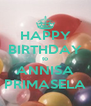 HAPPY BIRTHDAY to ANNISA PRIMASELA - Personalised Poster A4 size