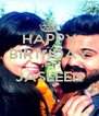 HAPPY BIRTHDAY TO JASLEEN  - Personalised Poster A4 size
