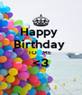 Happy  Birthday  TO   ME  <3  - Personalised Poster A4 size