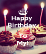 Happy  Birthday   To My! - Personalised Poster A4 size
