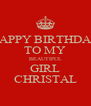 HAPPY BIRTHDAY TO MY BEAUTIFUL GIRL CHRISTAL - Personalised Poster A4 size